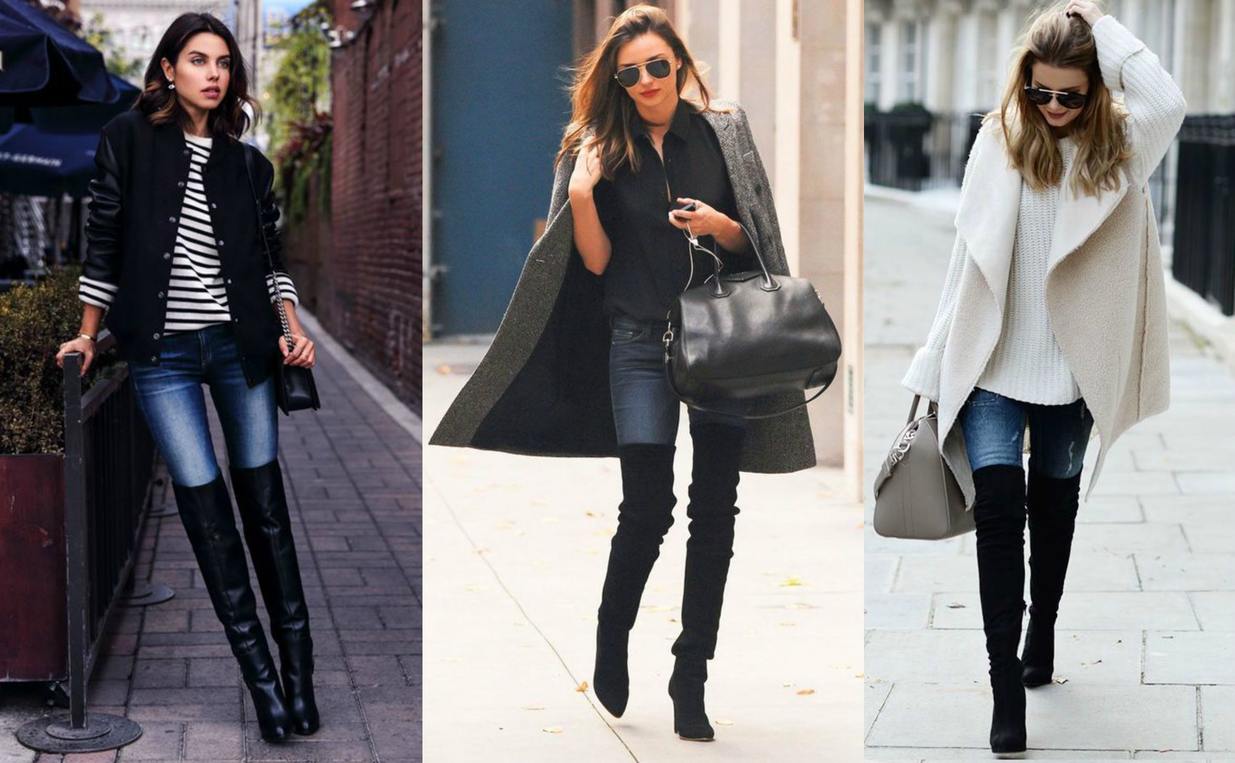 A bota dá um toque especial à calça jeans