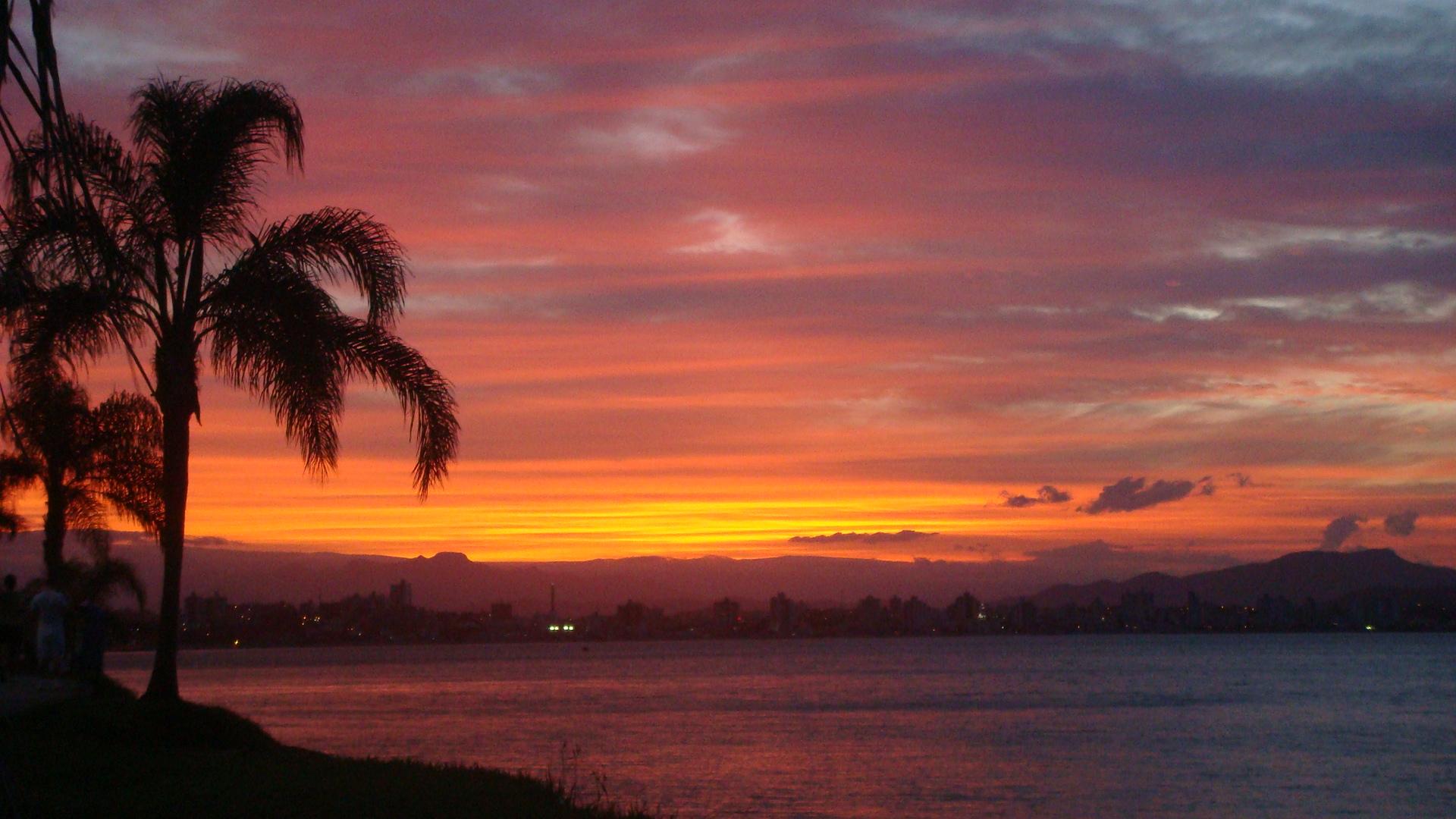 Por do sol em Florianópolis é sensacional