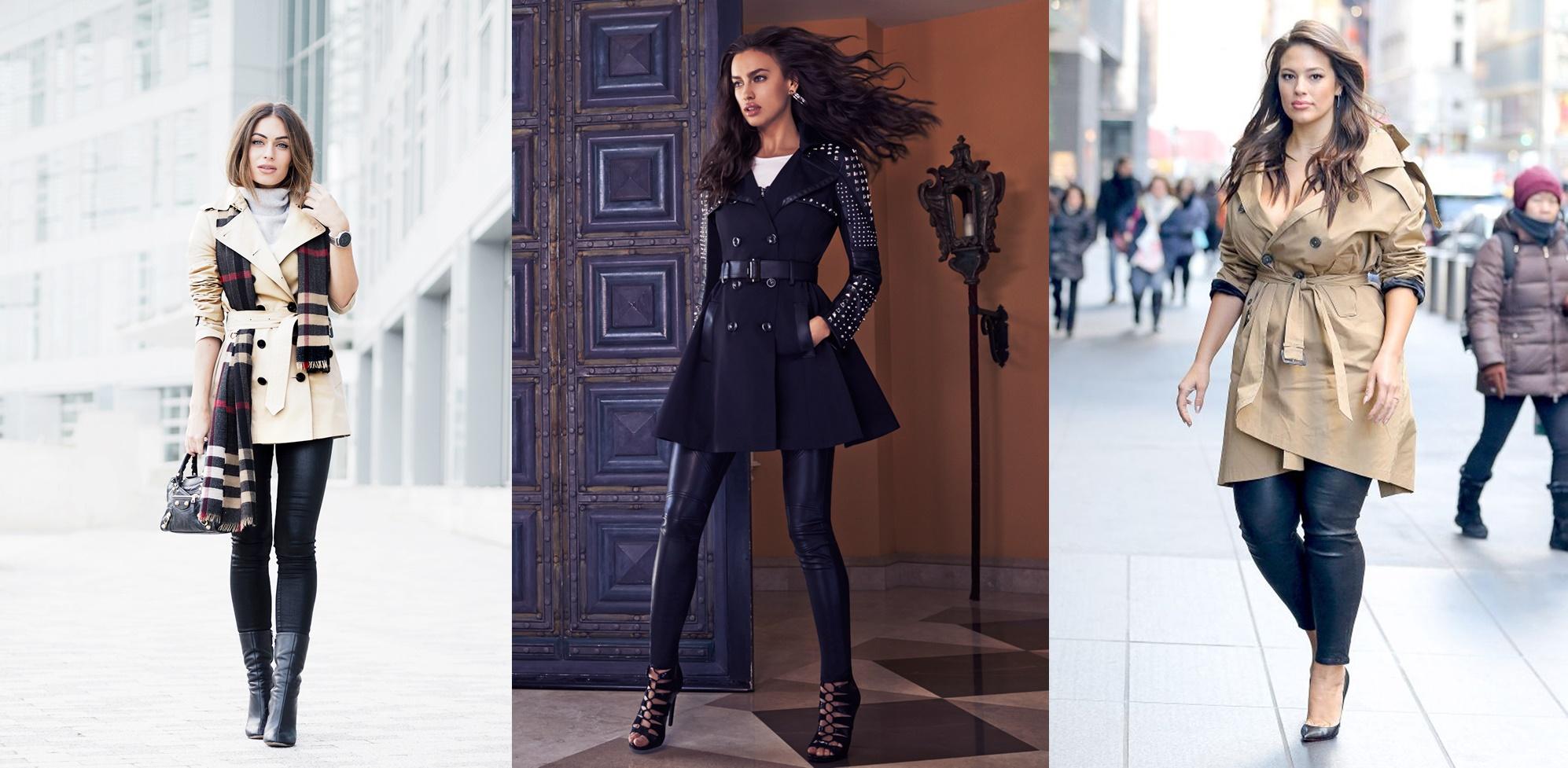 Legging fica super estilosa com o casaco