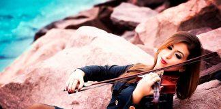 Violinista em Santos