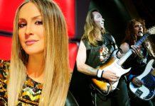 Cláudia Leitte ouve Iron Maiden